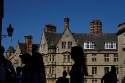 Sur le campus de l'université britannique d'Oxford, le 17 septembre 2020.