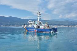 Des gardes-côtes allemands, ici au large de Samos, le 19 février, aident les Grecs depuis deux ans.