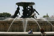 La fontaine du Triton, à Malte.