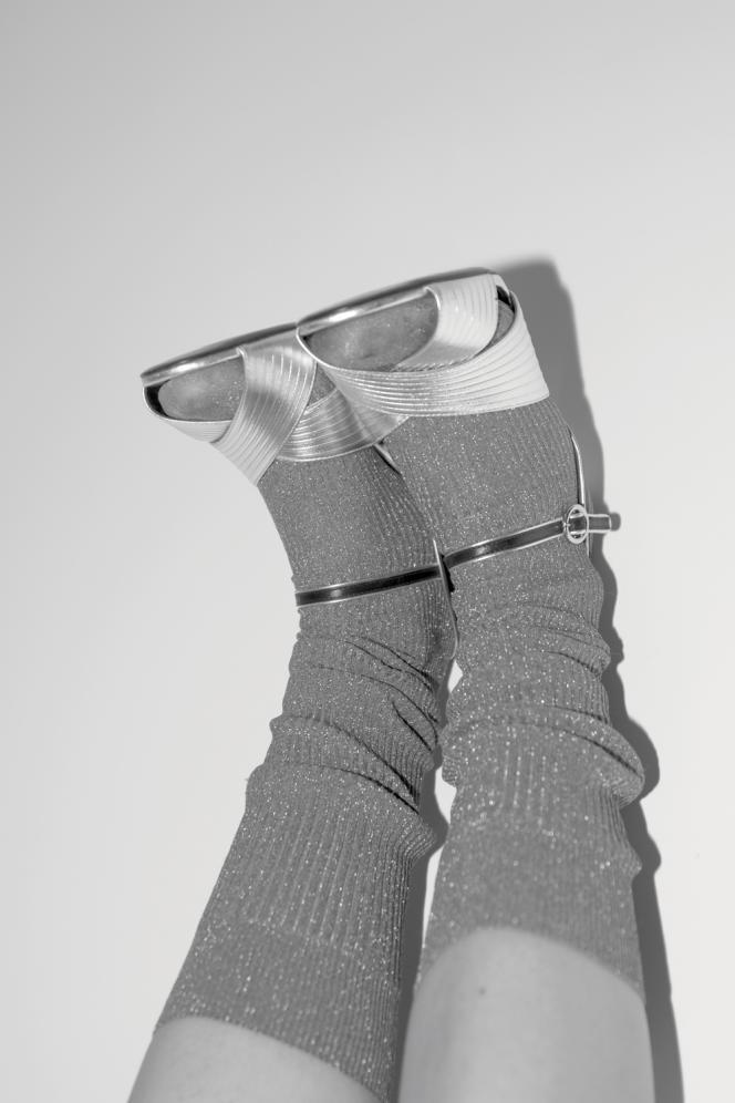 Sandales en cuir métallisé, Gucci, 750 €. gucci.com
