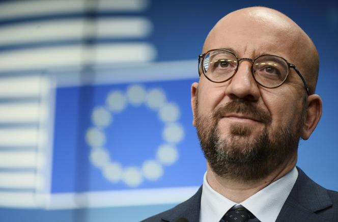 Le président du Conseil européen, Charles Michel, à Bruxelles, le vendredi 26 février 2021.