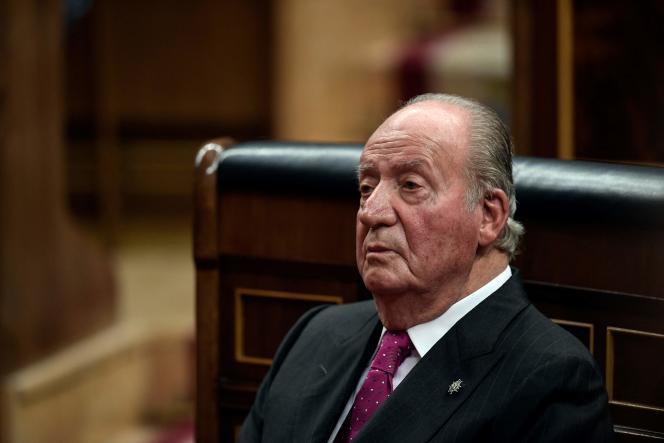 L'ancien roi espagnol Juan Carlos au parlement de Madrid, le 6 décembre 2018.