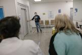 Au centre de santé de la CPAM de Seine-Saint-Denis à Bobigny, le 16 février.