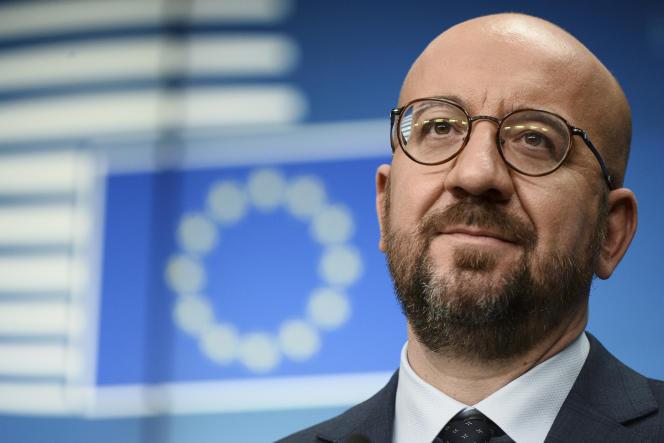 Le président du Conseil européen, Charles Michel, à Bruxelles, le vendredi 26 février.