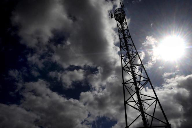 Une antenne relais, en 2009 à Sizun (Finistère).