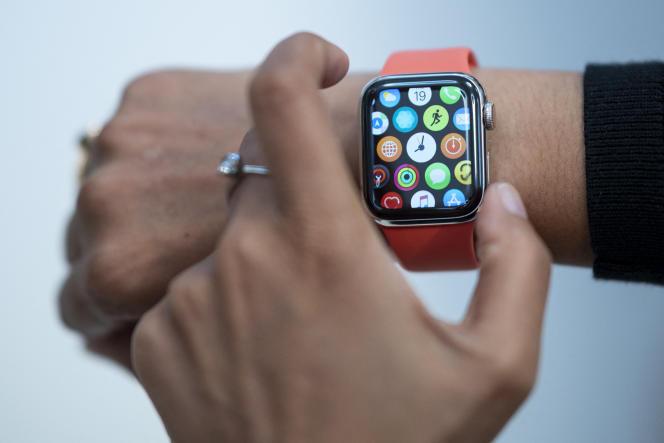 Une Apple Watch à New York en 2019.