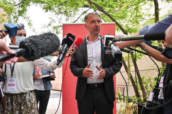 Bruno Bernard, président EELV de la métropole de Lyon, à Lyon, le 2 juillet 2020.