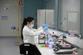 Manipulation d'anticorps monoclonaux à Garin, près de Buenos Aires, en Argentine, en août 2020.