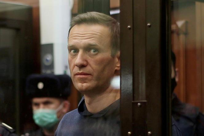 L'opposant russe Alexeï Navalny, lors de l'annonce d'un verdict de justice le concernant, à Moscou, le 2 février.
