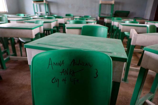 Le dortoir de l'école de Jangebe, dans l'Etat du Zamfara, au Niger, où 317 jeunes filles ont été enlevées le 26 février 2021.