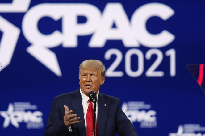 Donald Trump, lors de la Conservative Political Action Conference, à Orlando (Floride), le 28 février.