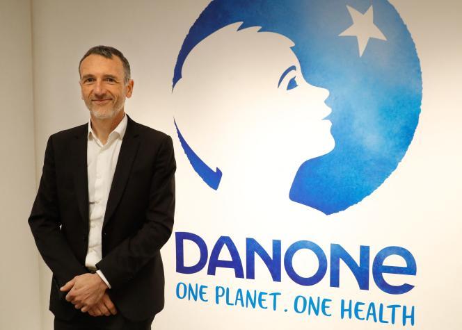 Emmanuel Faber, directeur général de Danone, à Paris, le 16 février 2018.