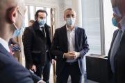 Emanuel Faber, PDG de Danone, au siège du groupe à Rueil-Malmaison (Hauts-de-Seine), le 26janvier 2021.