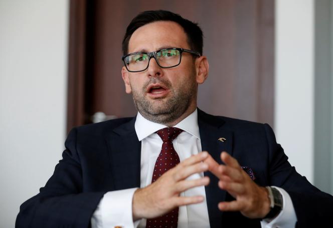Daniel Obajtek, le sulfureux PDG du groupe pétrolier PKN Orlen, à Varsovie le 5août2020.