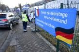 Un centre de test antigénique du Covid-19 pour les travailleurs transfrontaliers, à Sarrebruck, en Allemagne, le 2 mars 2021.