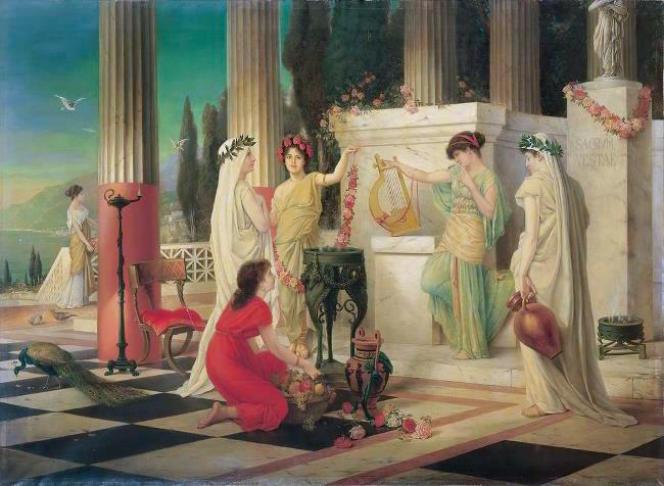 Dans le temple de Vesta, par Constantin Hölscher, 1902, Villa Grisebach (Allemagne).