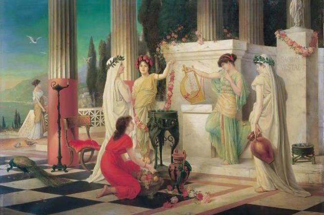 Dans le temple de la vestale, par Constantin Hölscher, 1902, Villa Grisebach (Allemagne).