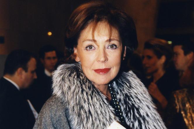 Lise Toubon, en novembre 1998, lors d'un gala à l'Unesco, à Paris.
