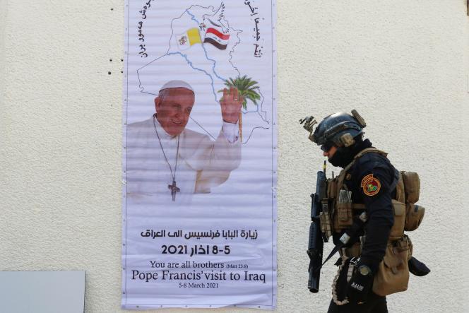 Le pape François est attendu vendredi à Bagdad et dimanche à Erbil, où il doit célébrer une messe dans un stade.