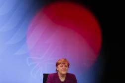 La chancelière allemande, Angela Merkel, lors d'une conférence de presse en Allemagne, le 3mars.