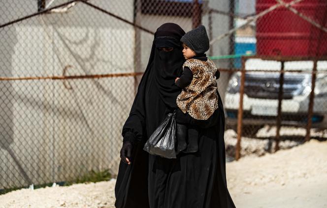 Dans le camp de détention d'Al-Hol, dans le Kurdistan syrien, le 3 mars.