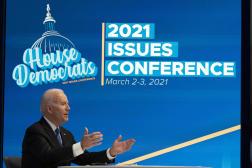 Le président démocrate, Joe Biden, lors d'une réunion virtuelle à Washington, le 3mars.
