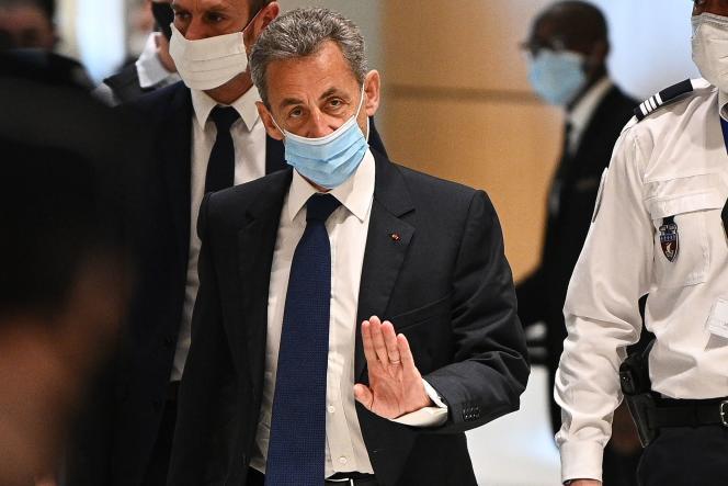 L'ancien président, Nicolas Sarkozy, le 1er mars au Palais de justice de Paris.