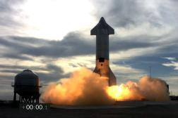 Décollage de la fusée Starship, à Brownsville (Texas), le 3 mars.