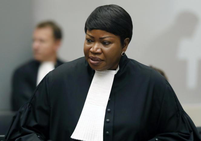 La procureure Fatou Bensouda, à la Cour pénale internationale (CPI), à La Haye (Pays-Bas), en 2018.