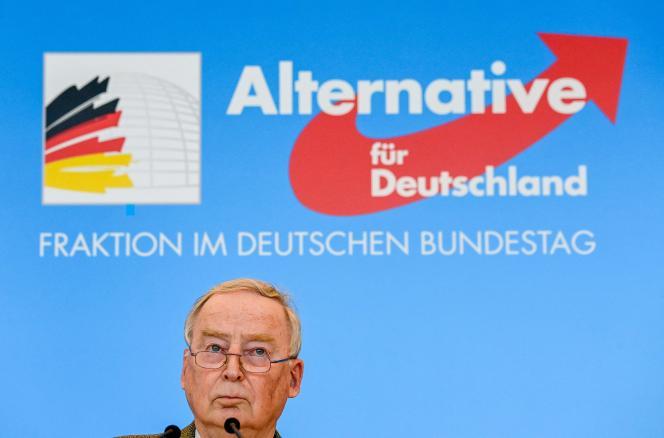 Alexander Gauland, cochef du groupe parlementaire de l'Alternative pour l'Allemagne (AfD), le 3 mars 2021, dans l'enceinte du Bundestag, à Berlin.
