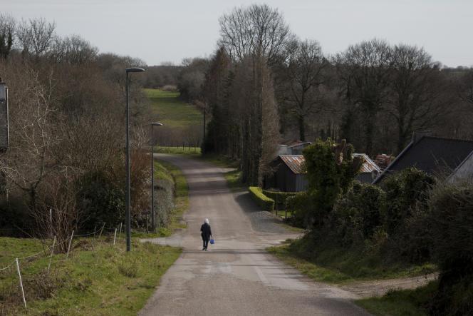 Le bourg de Brennilis dans les Monts d'Arrée, ici le 24 février, n'a enregistré aucun cas de Covid-19 depuis le début de la pandémie.