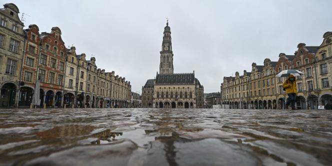 La place des Héros, à Arras (Pas-de-Calais), jeudi 4 mars.