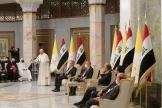Le pape François au palais présidentiel à Bagdad, en Irak, le 5 mars.