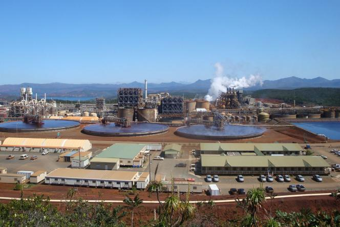 L'usine d'extraction de nickel de Vale, au sud de la Nouvelle-Calédonie, en 2013.