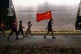 Manifestation à Wuhan en septembre 2020.