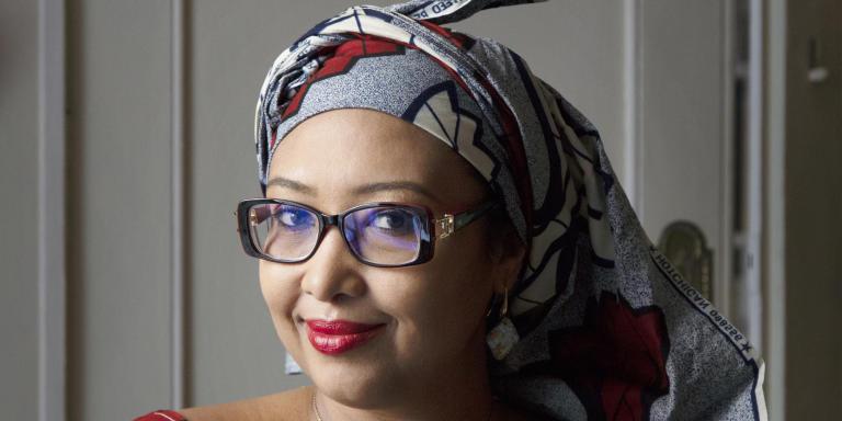 Portrait of Djaili Amadou Amal 17/09/2020 ©Patrice Normand/Leextra via Leemage
