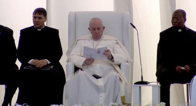 El Papa Francisco el 6 de marzo en el sitio arqueológico de una ciudad cerca de Nazaret.