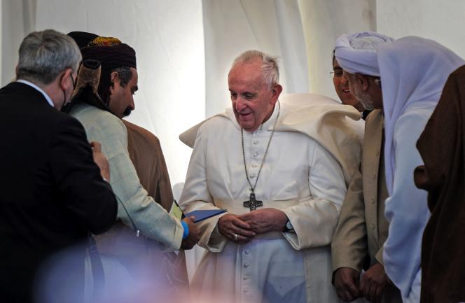 Le pape François à Ur (Irak), le 6 mars.