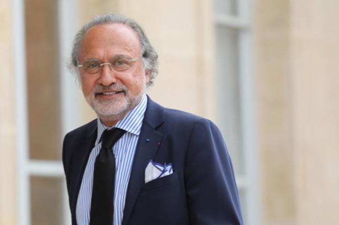 Olivier Dassault à l'Elysée, le 31 mai 2018.