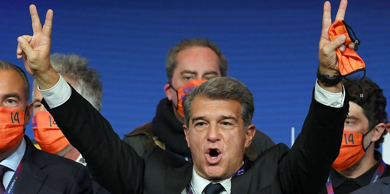 Joan Laporta est élu président du FC Barcelone, club mythique en plein chantier - Le Monde