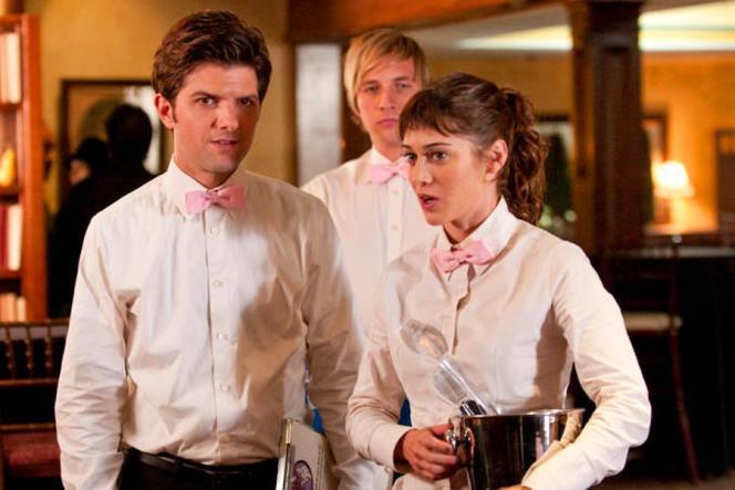 Adam Scott, Ryan Hansen et Lizzy Caplan, dans« Party Down».