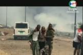 Des images du drame diffusées parla chaîne d'Etat TVGE.