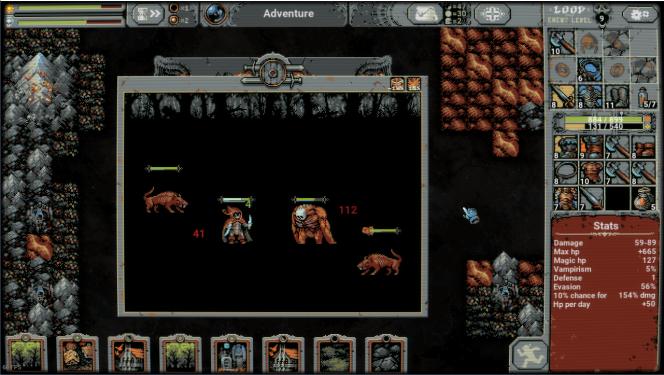 Les combats de« Loop Hero» se jouent seul, vous n'avez rien à faire.