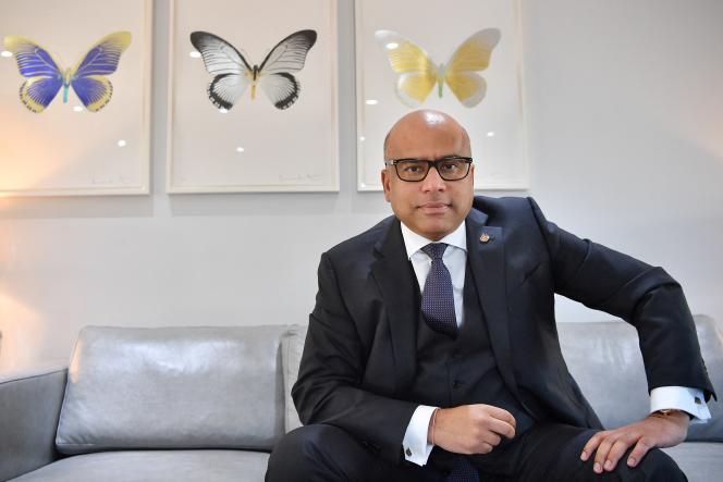 Sanjeev Gupta, dirigeant de Gupta Family Group Alliance (GFG Alliance), à Londres, le 28 janvier 2019.