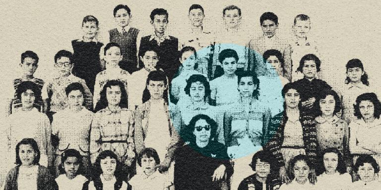 1954. Photo de classe de Samir Abdulac (3e en partant de la gauche au 3e rang). MLF-CHAM COLLECTION SAMIR ABDULAC