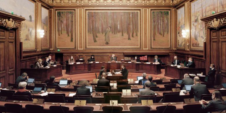 WEB Salle de l'Assemblée générale du Conseil d'Etat. Photographie prise pendant une séance de l'Assemblée générale, les jeudi 4 et vendredi 5 février.