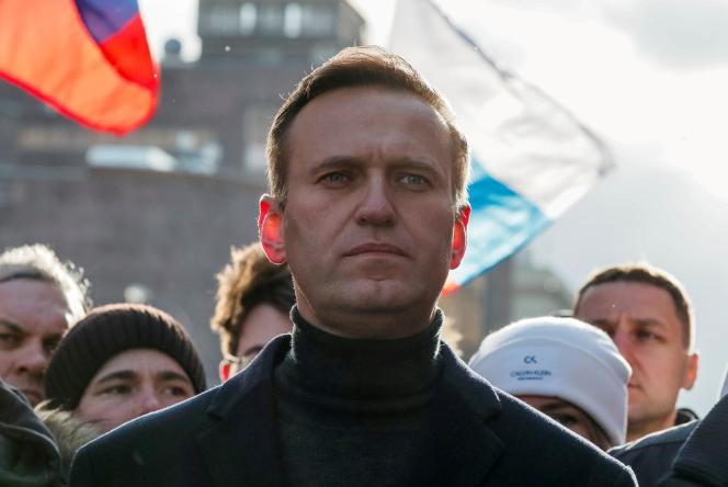 Alexeï Navalny, à Moscou, en février 2020. Emprisonné depuis février, l'opposant russe serait privé de sommeil par ses geôliers.