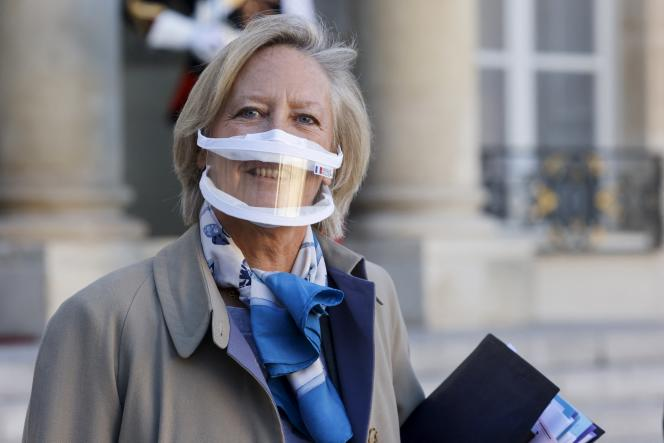 La secrétaire d'Etat chargée des personnes handicapées, Sophie Cluzel, à l'Elysée le 18 novembre 2020.