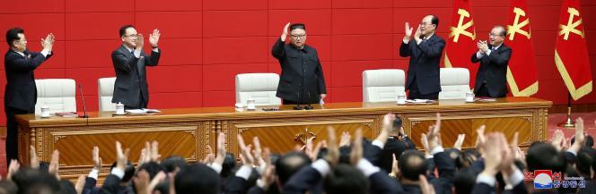 El líder norcoreano Kim Jong-un en Pyongyang, una foto sin fecha publicada el 7 de marzo de 2021 por la Agencia Central de Noticias de Corea (KCNA).
