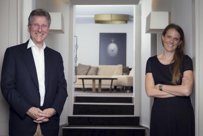 Anne-Laure et son père, Michel Parmigiani.